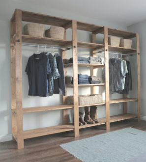 wood closet diy 2x416